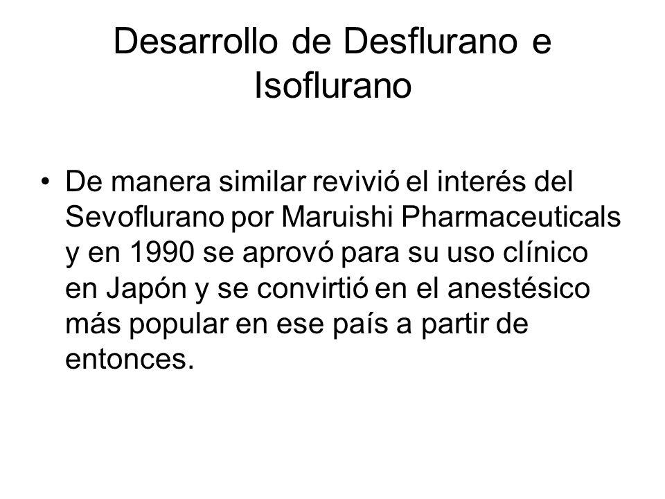 Desarrollo de Desflurano e Isoflurano