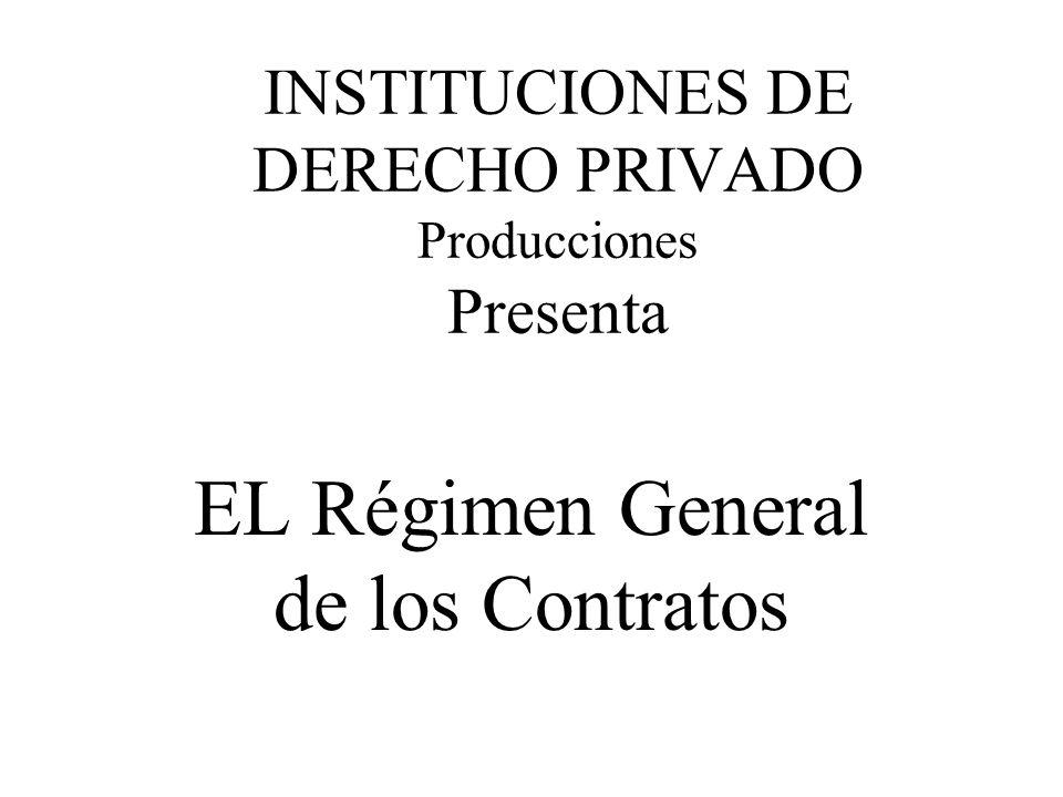 INSTITUCIONES DE DERECHO PRIVADO Producciones Presenta