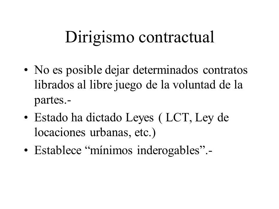 Dirigismo contractual