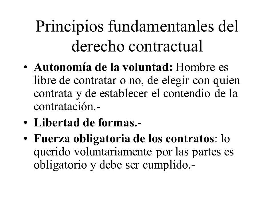 Principios fundamentanles del derecho contractual