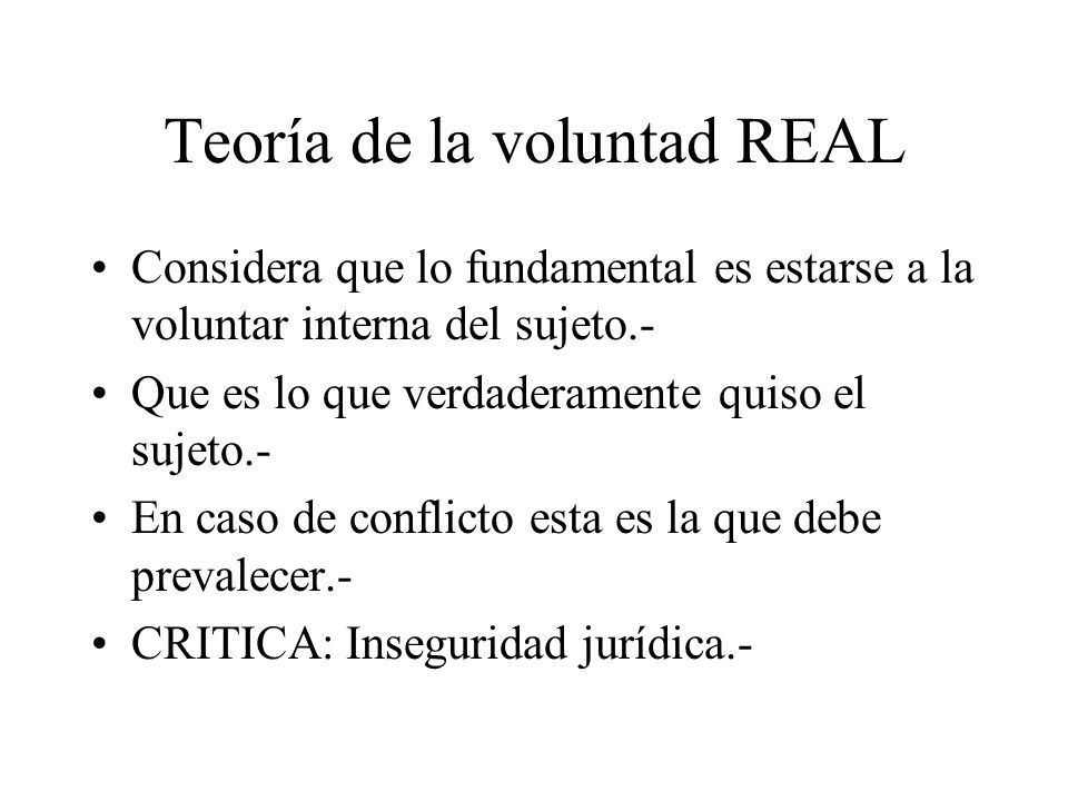 Teoría de la voluntad REAL