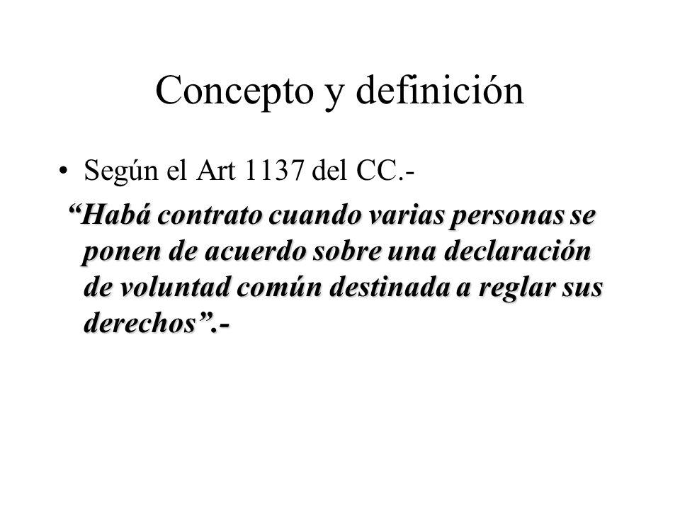 Concepto y definición Según el Art 1137 del CC.-