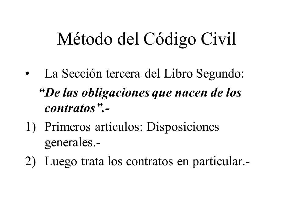 Método del Código Civil