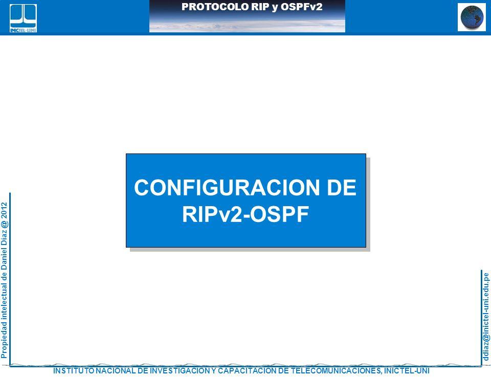 CONFIGURACION DE RIPv2-OSPF