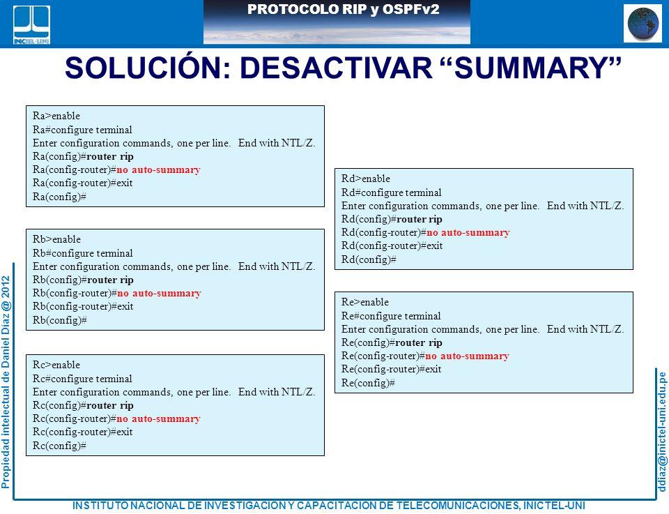 SOLUCIÓN: DESACTIVAR SUMMARY