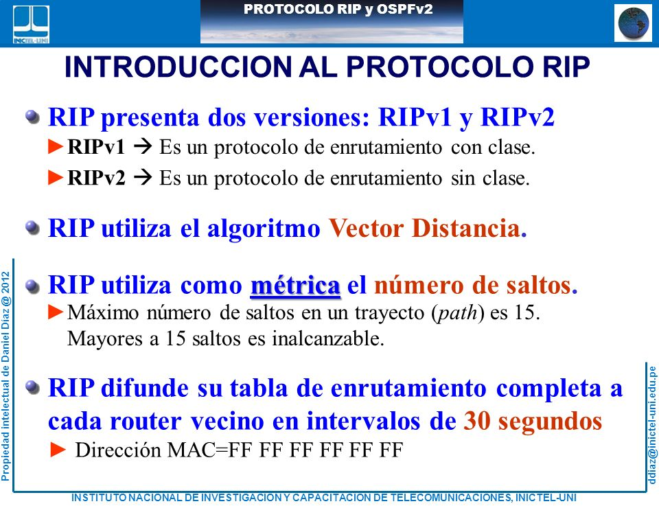 INTRODUCCION AL PROTOCOLO RIP