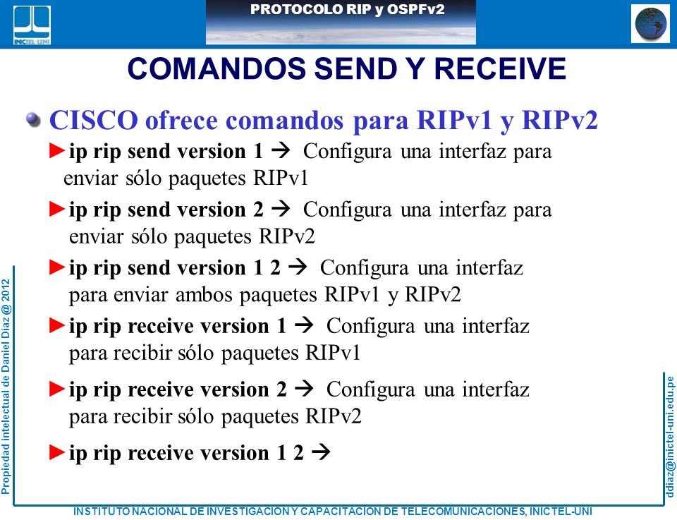 COMANDOS SEND Y RECEIVE