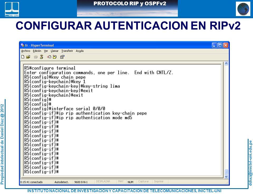 CONFIGURAR AUTENTICACION EN RIPv2
