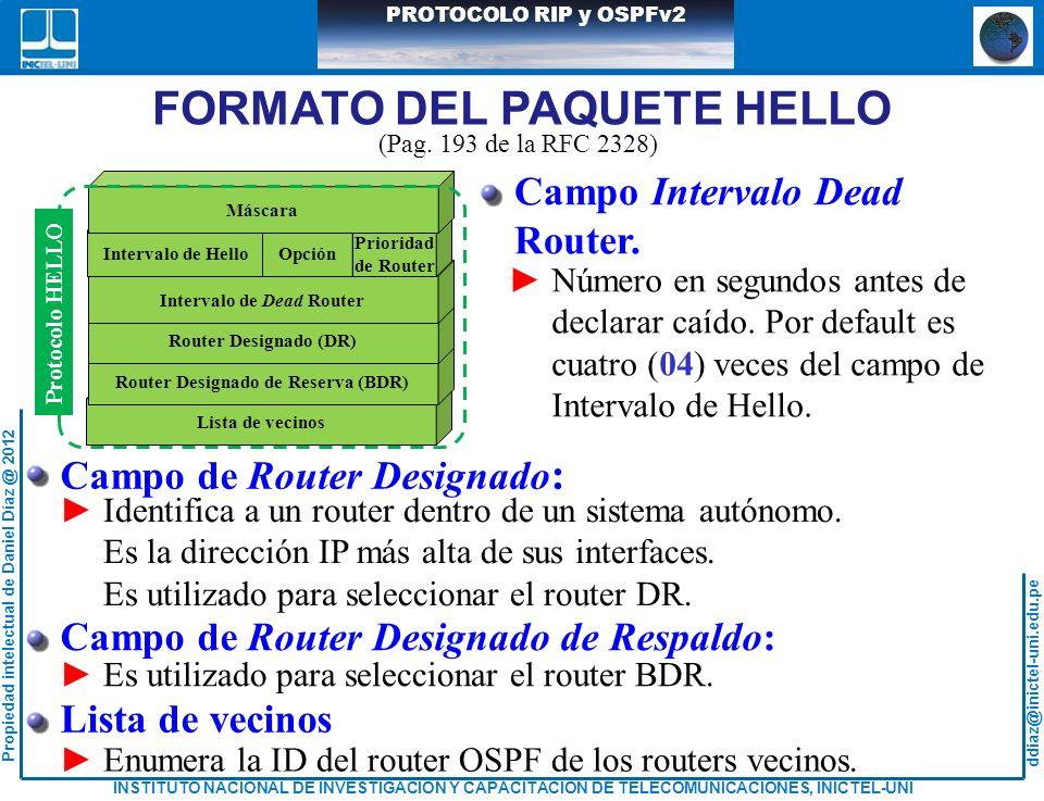 Router Designado de Reserva (BDR) Intervalo de Dead Router