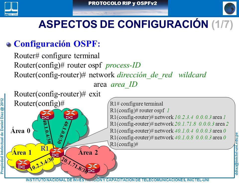 ASPECTOS DE CONFIGURACIÓN (1/7)