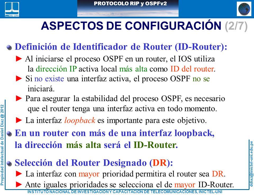 ASPECTOS DE CONFIGURACIÓN (2/7)