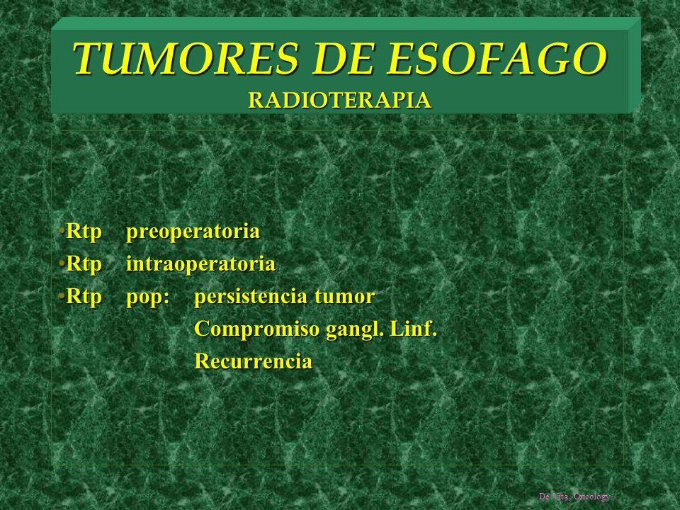 TUMORES DE ESOFAGO RADIOTERAPIA