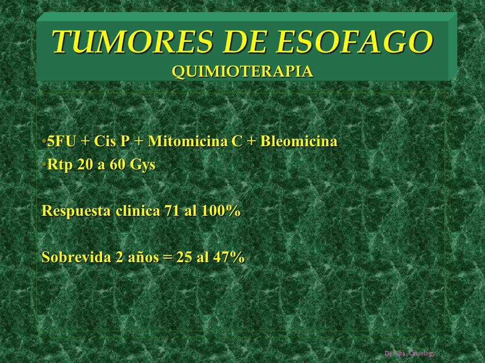 TUMORES DE ESOFAGO QUIMIOTERAPIA