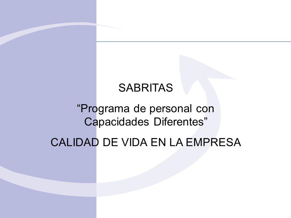 Programa de personal con Capacidades Diferentes