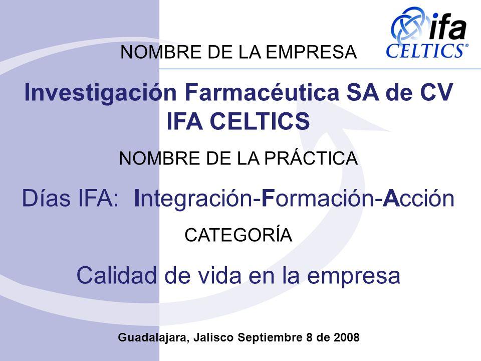 Investigación Farmacéutica SA de CV IFA CELTICS