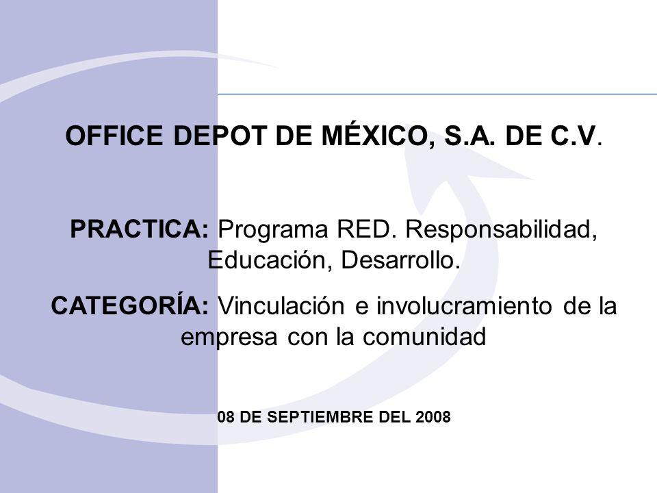 OFFICE DEPOT DE MÉXICO, S.A. DE C.V.