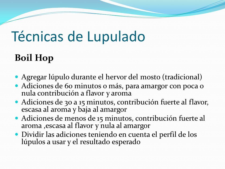Técnicas de Lupulado Boil Hop