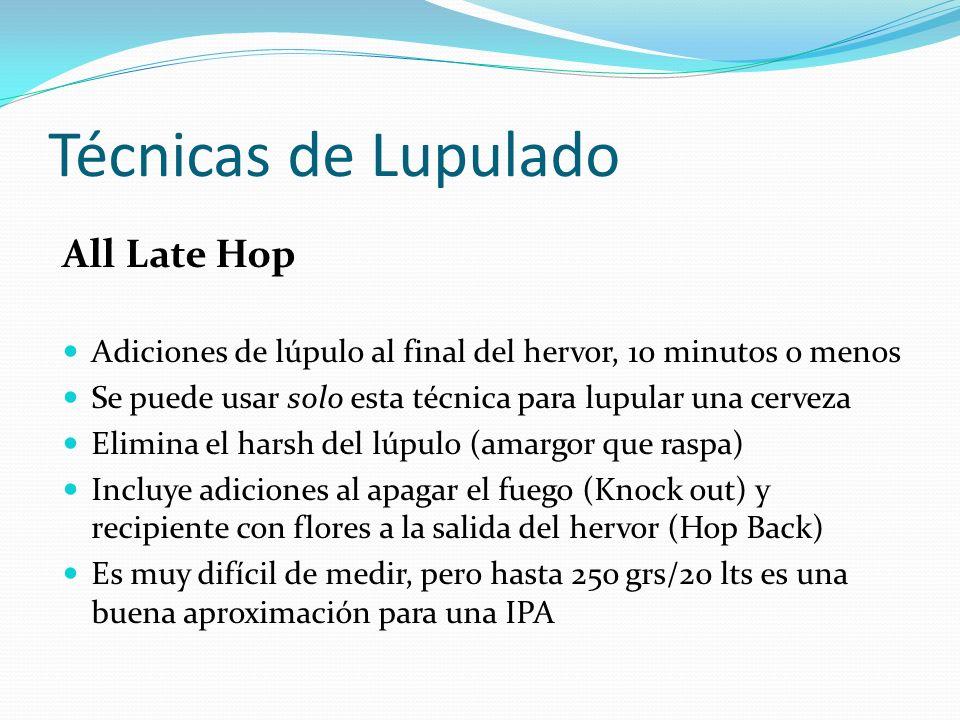 Técnicas de Lupulado All Late Hop