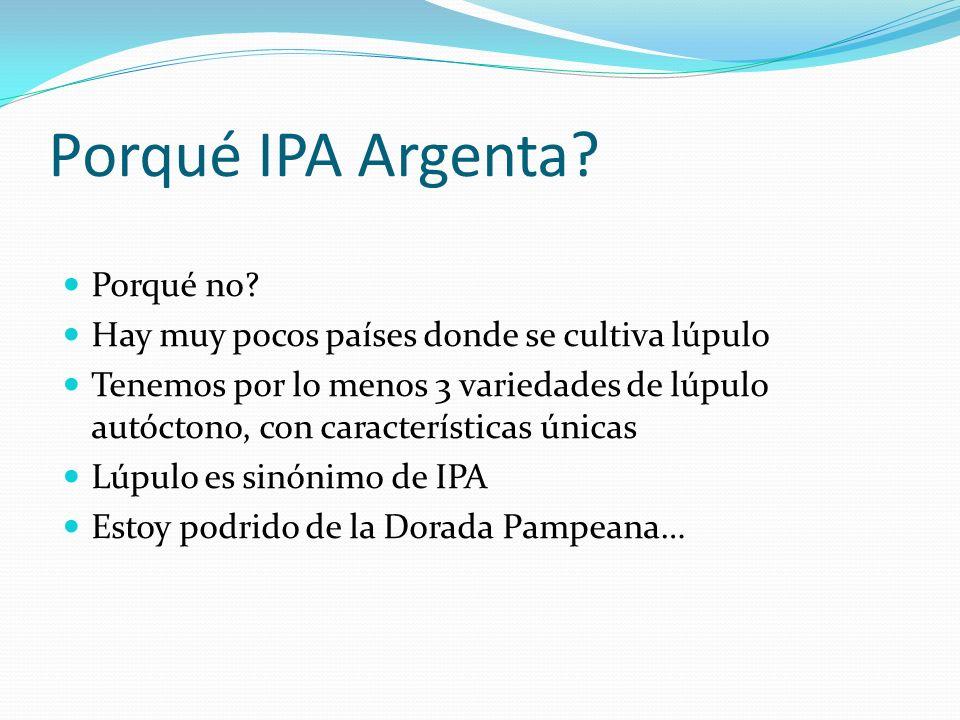 Porqué IPA Argenta Porqué no