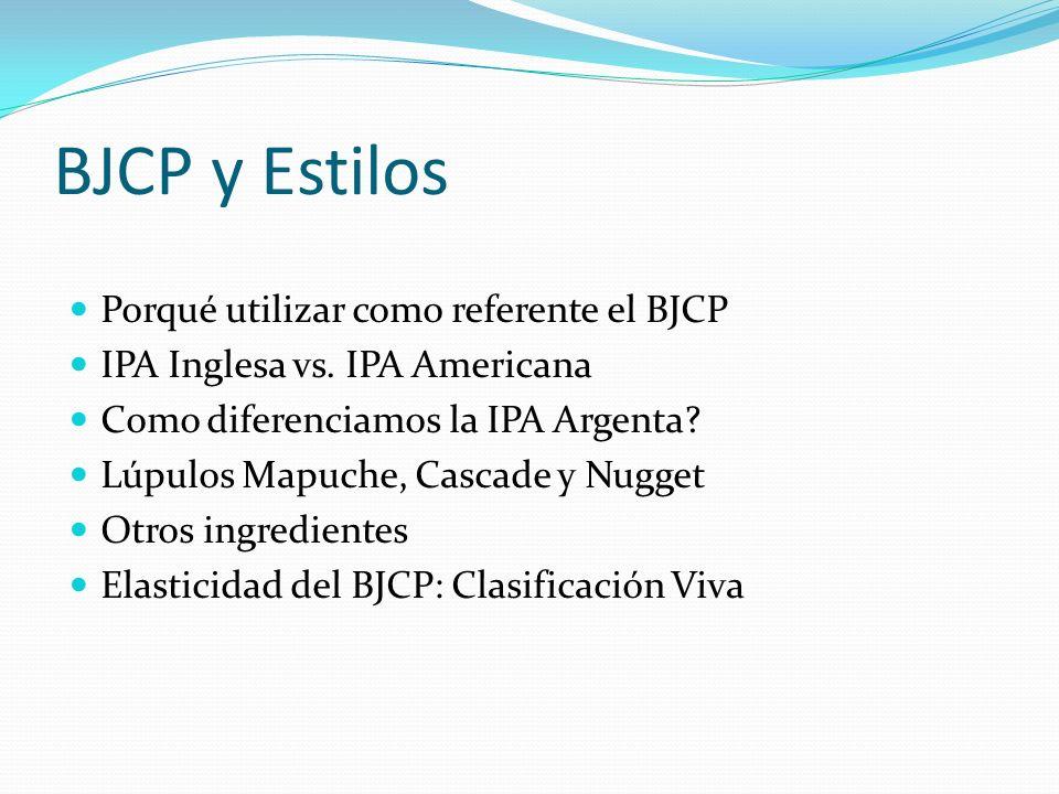 BJCP y Estilos Porqué utilizar como referente el BJCP