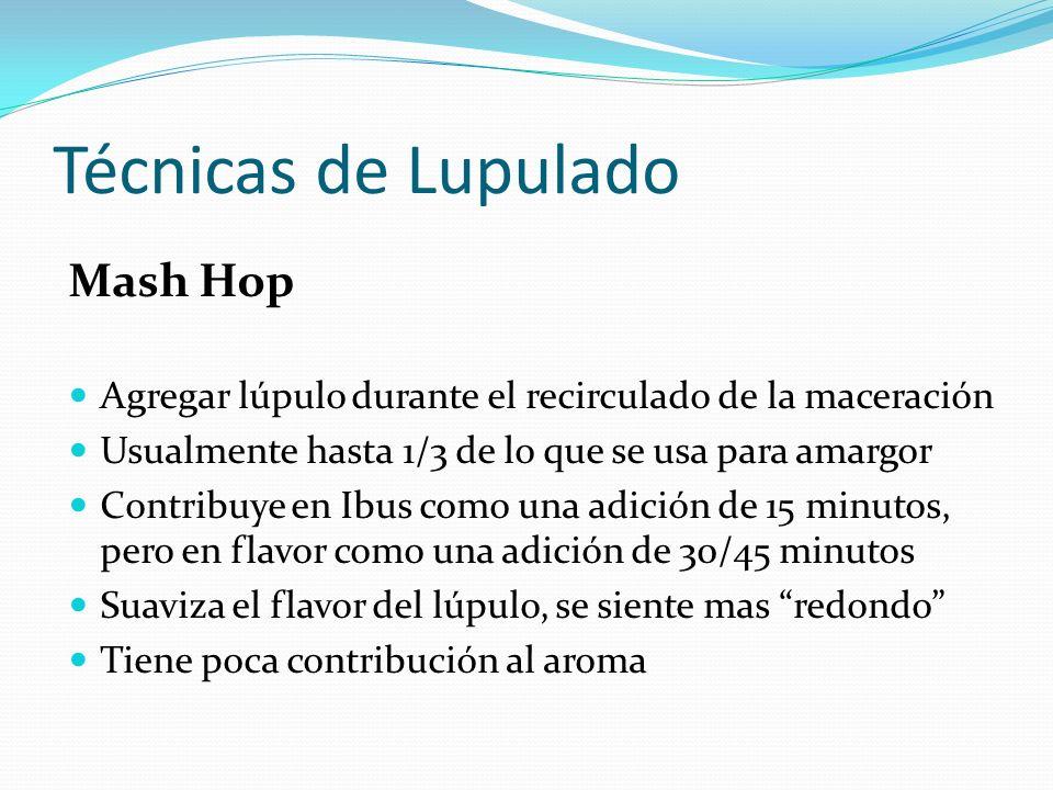 Técnicas de Lupulado Mash Hop