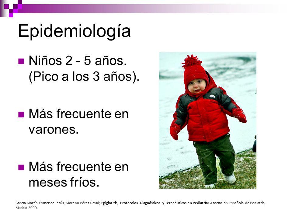 Epidemiología Niños 2 - 5 años. (Pico a los 3 años).