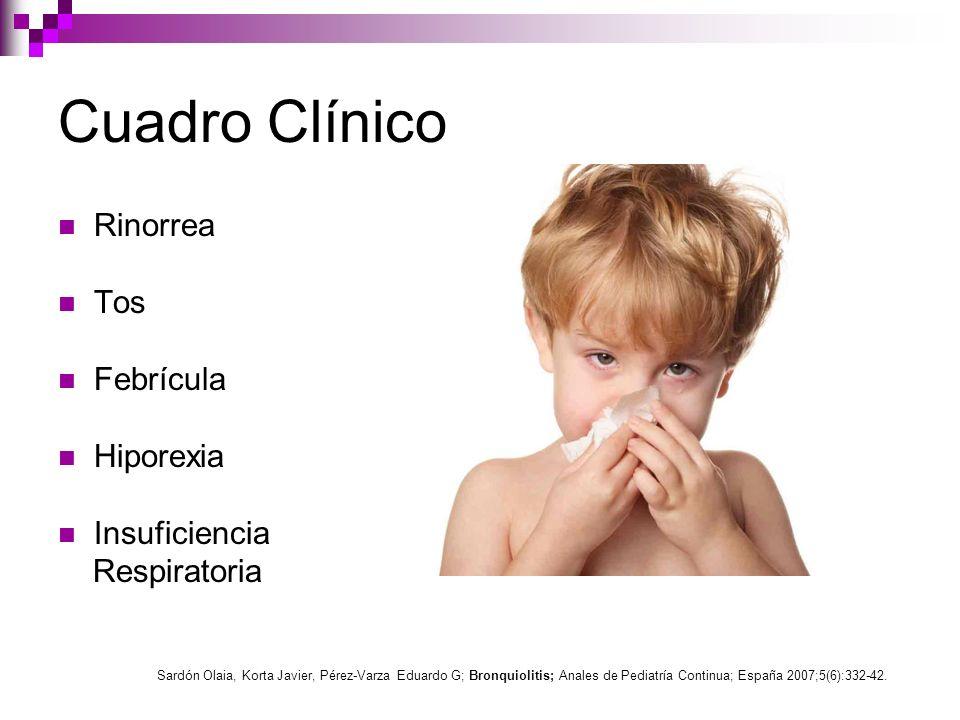 Cuadro Clínico Rinorrea Tos Febrícula Hiporexia Insuficiencia