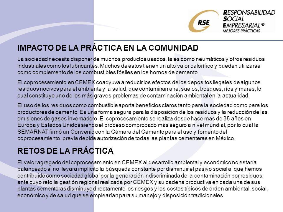 IMPACTO DE LA PRÁCTICA EN LA COMUNIDAD
