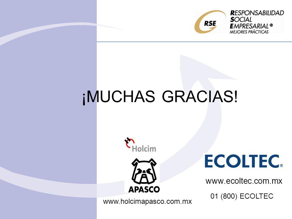 ¡MUCHAS GRACIAS! www.ecoltec.com.mx 01 (800) ECOLTEC