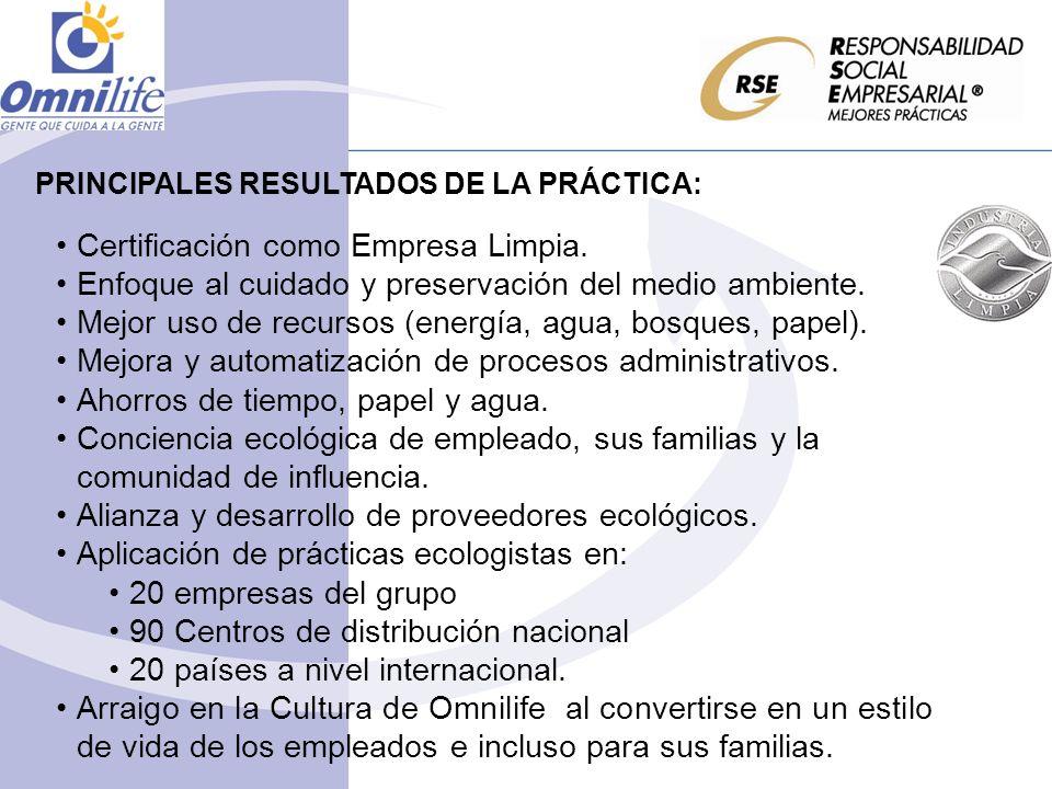 Certificación como Empresa Limpia.