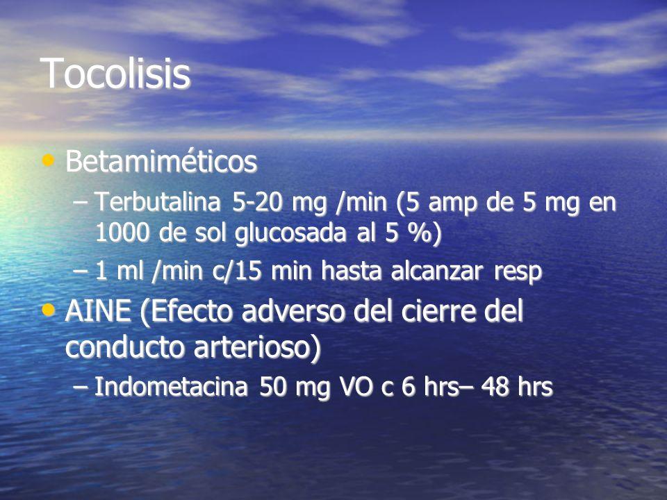 Tocolisis Betamiméticos
