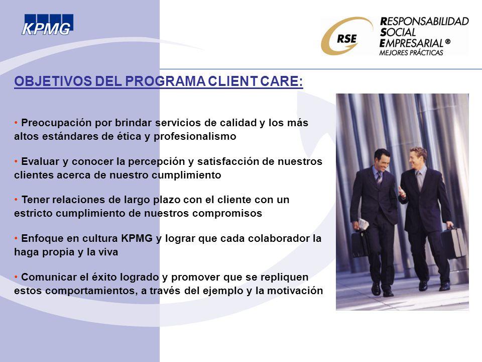 OBJETIVOS DEL PROGRAMA CLIENT CARE: