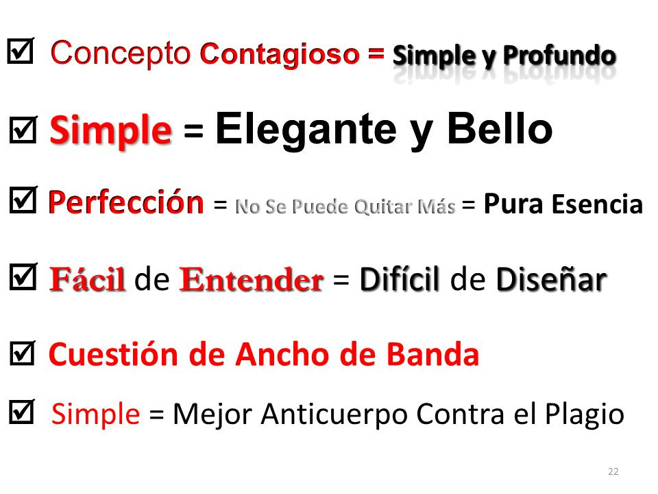  Simple = Elegante y Bello