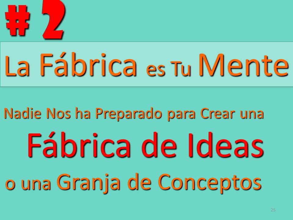 # 2 La Fábrica es Tu Mente Fábrica de Ideas
