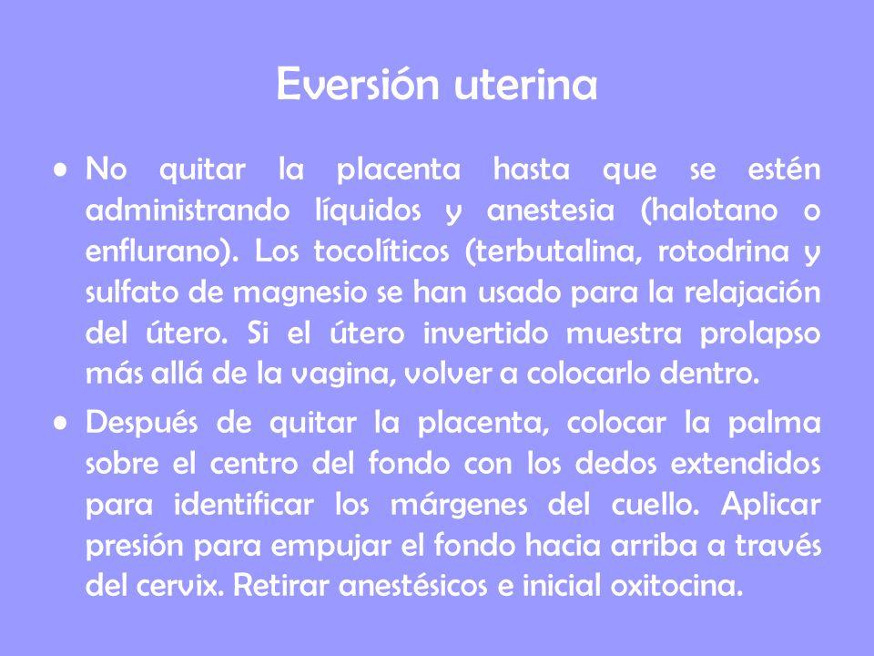 Eversión uterina