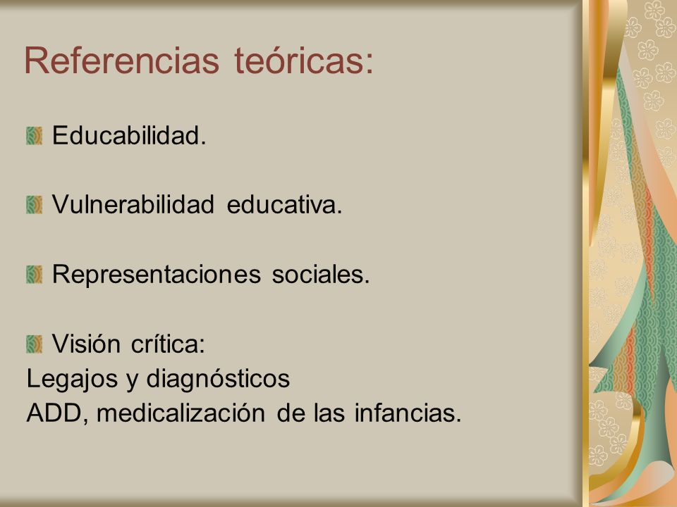 Referencias teóricas: