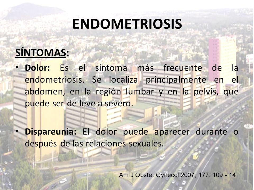 ENDOMETRIOSIS SÍNTOMAS: