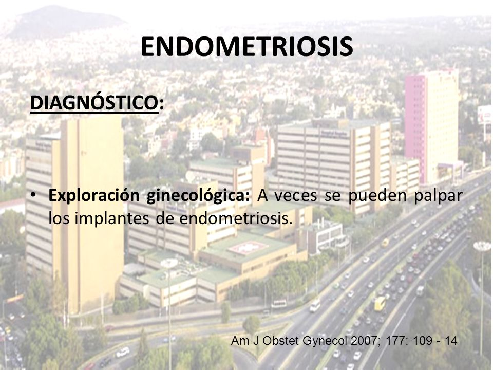 ENDOMETRIOSIS DIAGNÓSTICO: