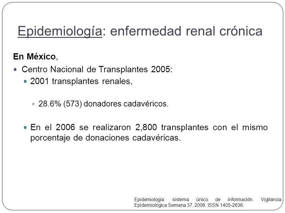Epidemiología: enfermedad renal crónica
