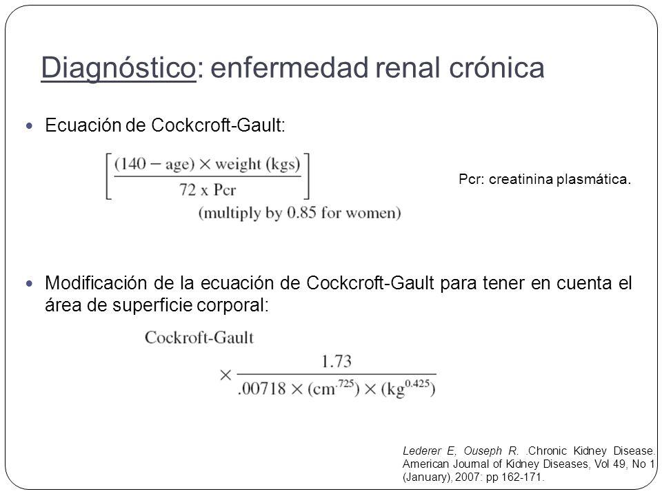 Diagnóstico: enfermedad renal crónica