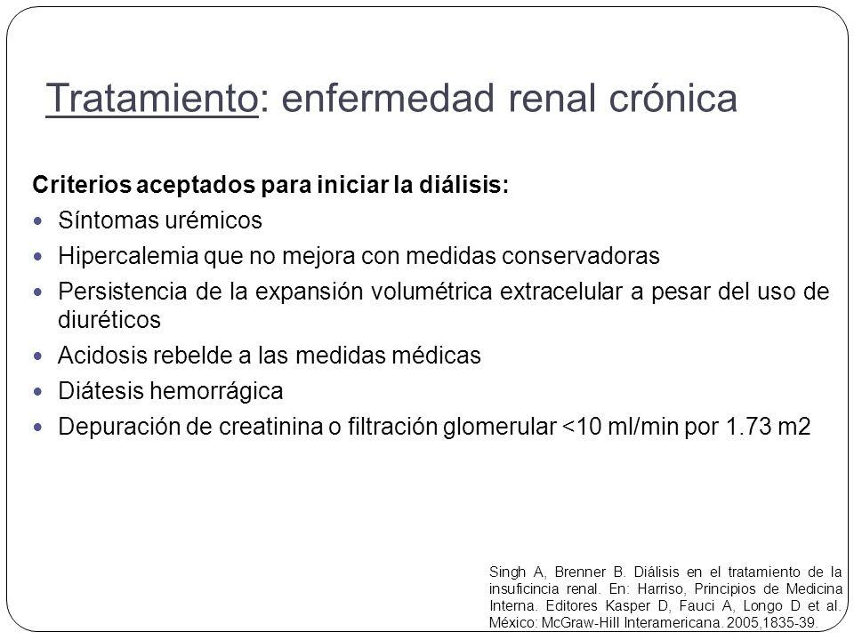 Tratamiento: enfermedad renal crónica