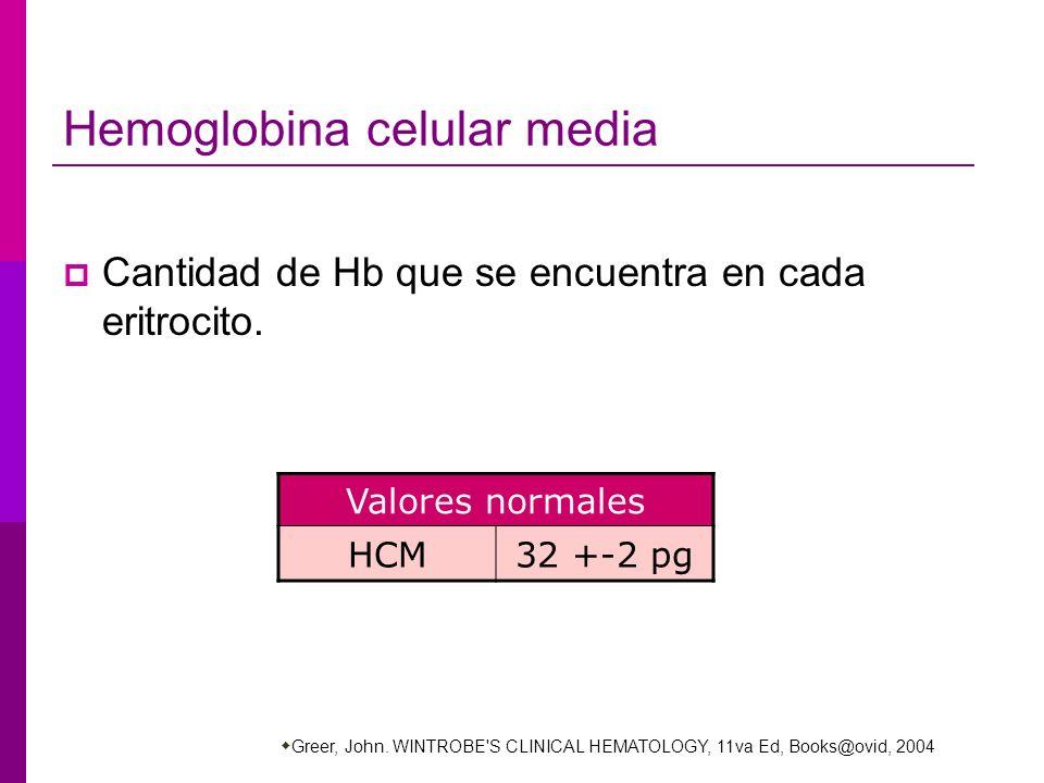 Hemoglobina celular media