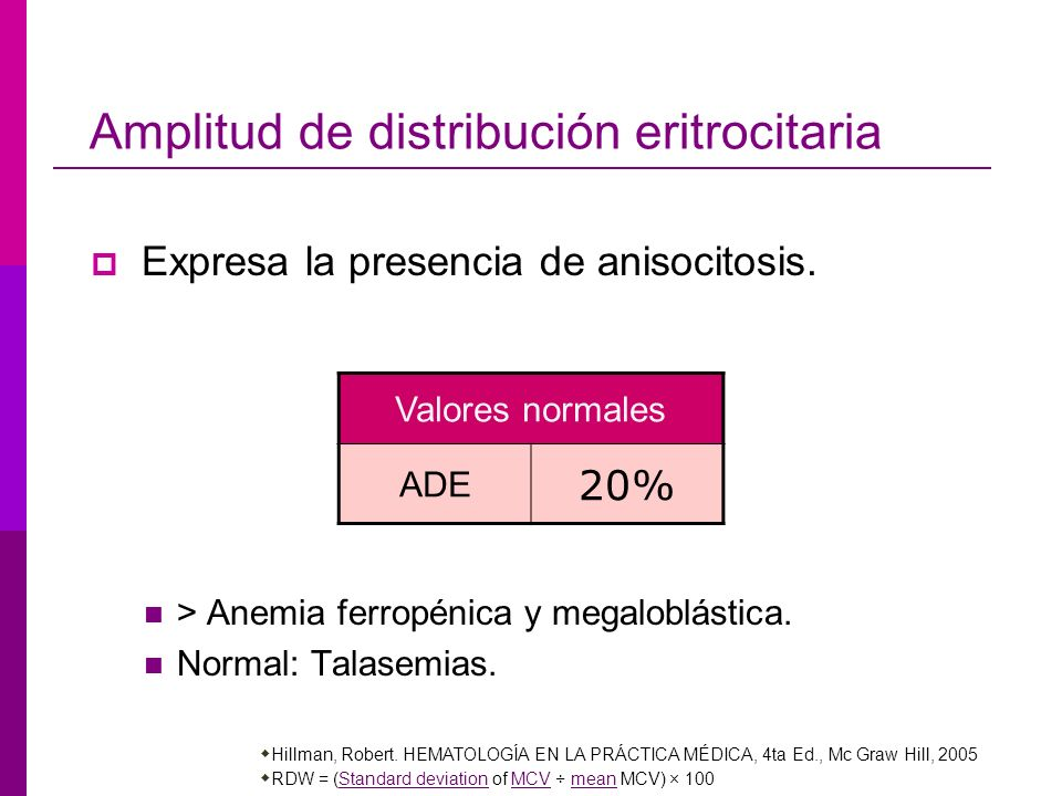Amplitud de distribución eritrocitaria
