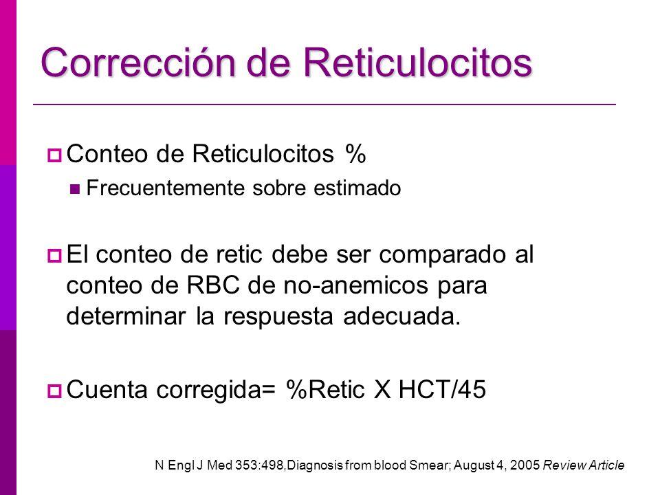 Corrección de Reticulocitos