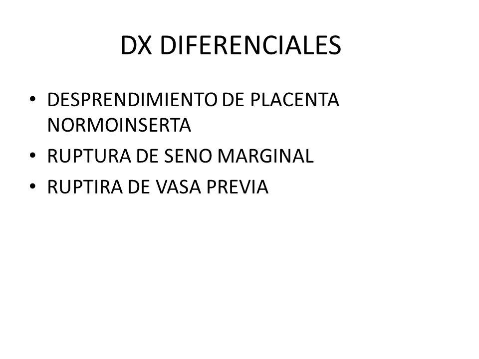 DX DIFERENCIALES DESPRENDIMIENTO DE PLACENTA NORMOINSERTA