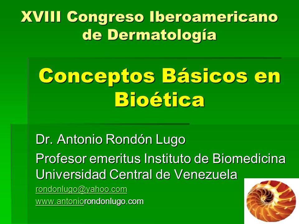 Conceptos Básicos en Bioética