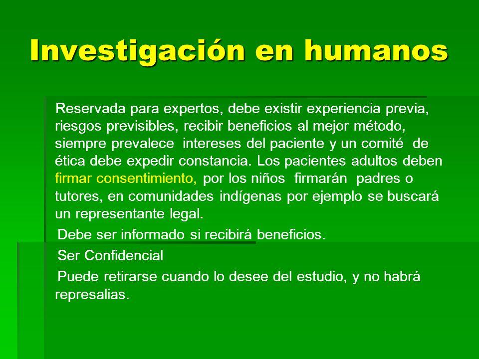 Investigación en humanos