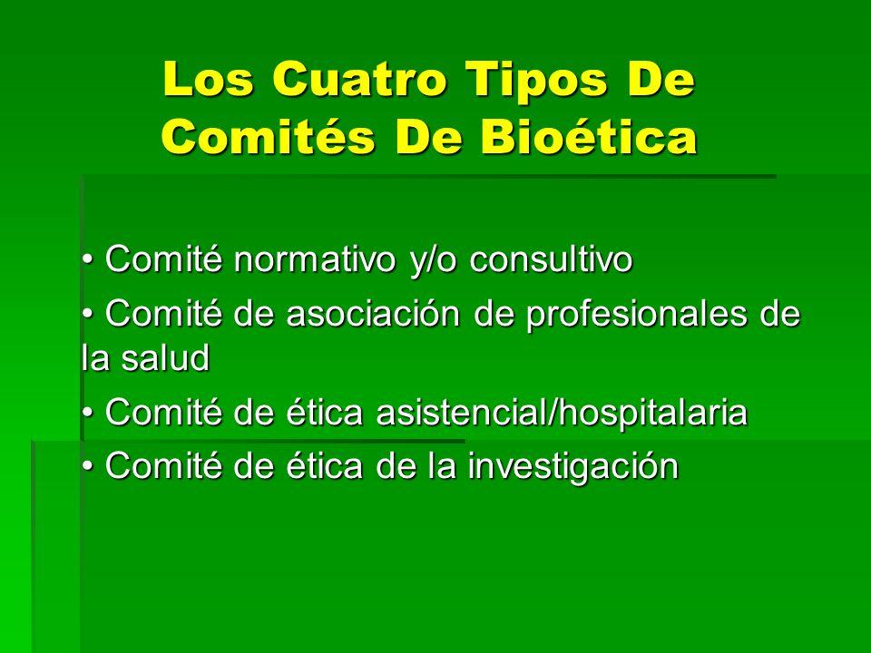 Los Cuatro Tipos De Comités De Bioética