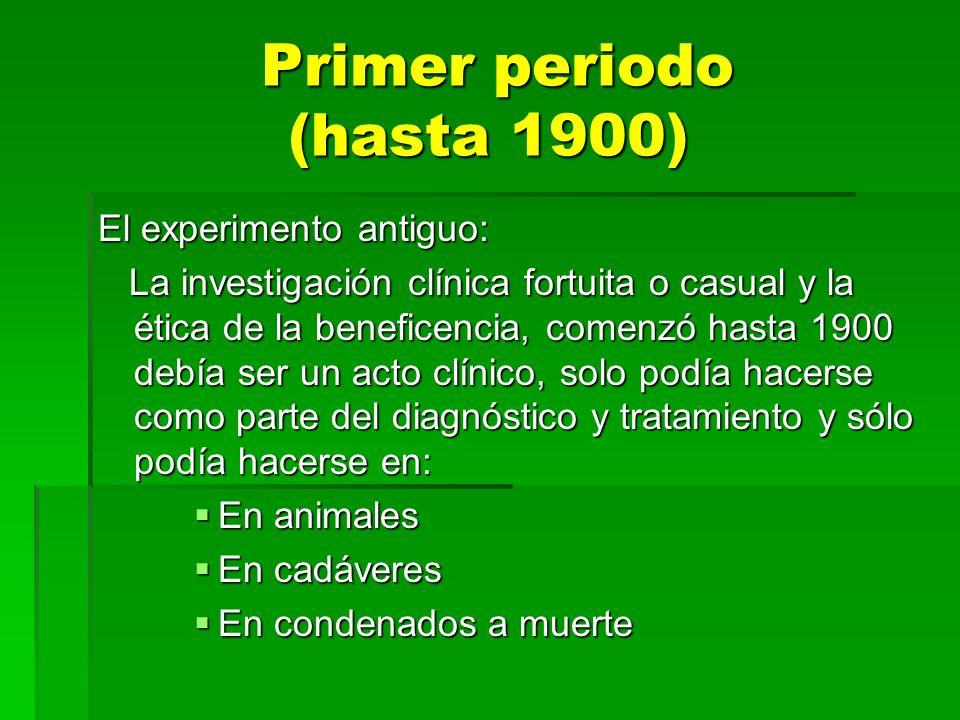 Primer periodo (hasta 1900)