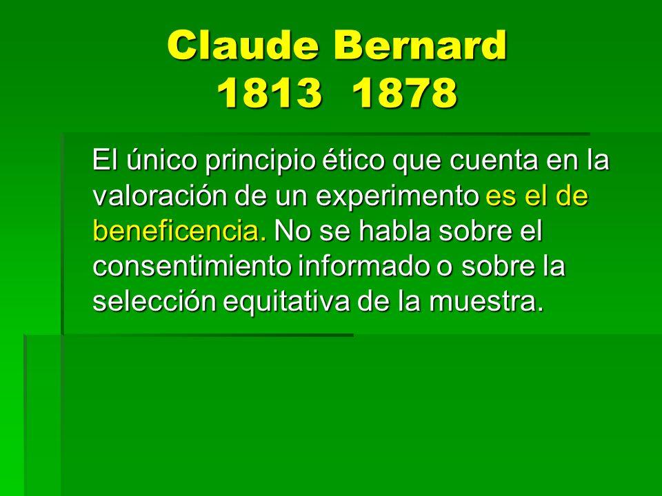 Claude Bernard 1813 1878
